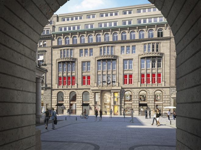 Bucerius Kunst Forum alte Fassade Rendering