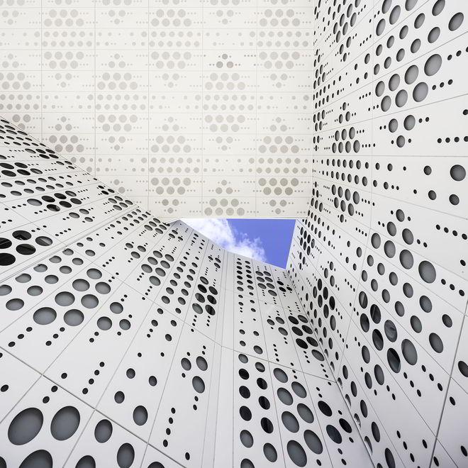 Gautrand Architects Bélaroïa Blick von der Straßenterrasse in den Himmel