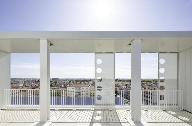 Gautrand Architecture Bélaroïa Detail der obersten Dachterrasse