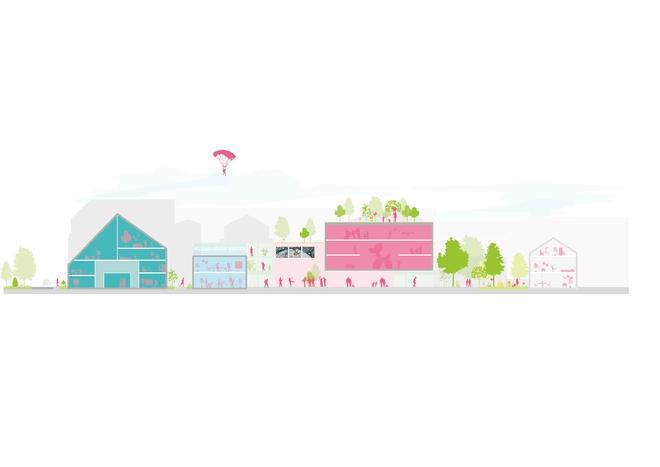 Zwischen heiter und heikel: MVRDV entwirft Masterplan für Kreativquartier Potsdam Mitte
