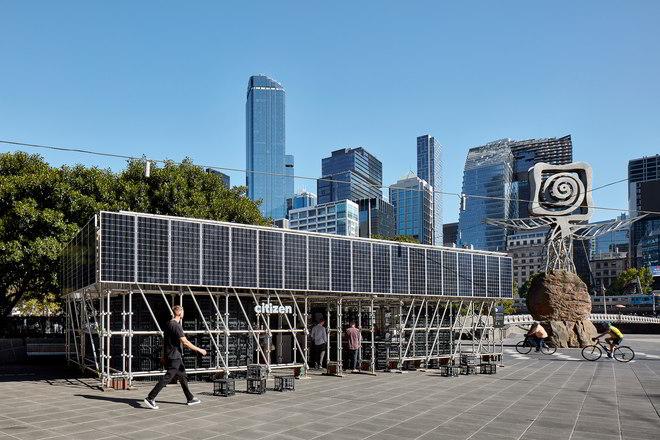 Citizen.MDW von ZWEI Interiors Architecture vor Skylinevon Melbourne