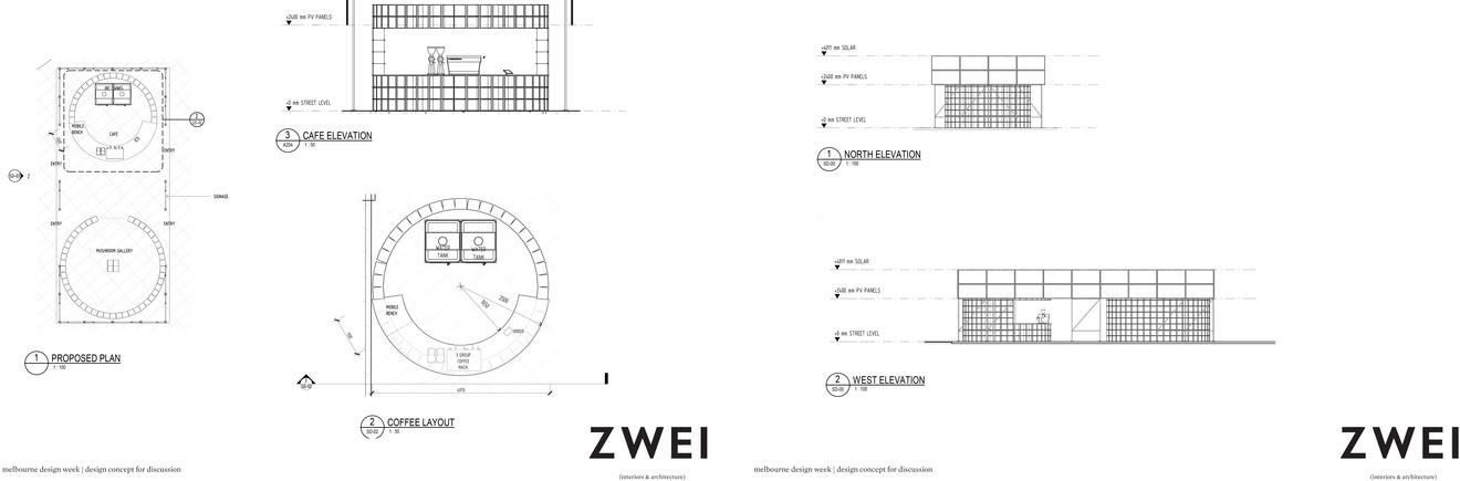 Citizen.MDW von ZWEI Interiors Architecture Grundriss und Ansichten