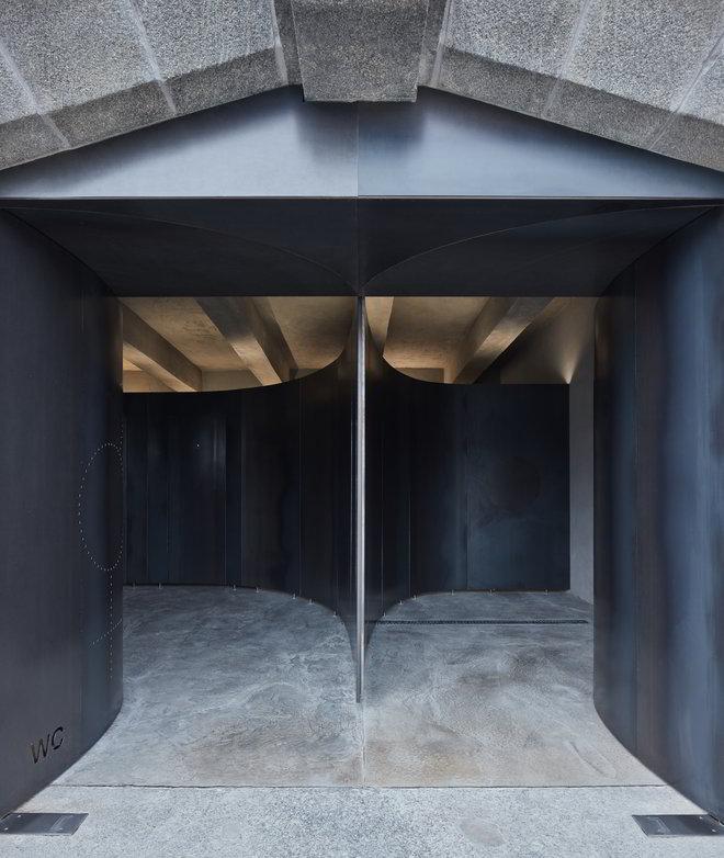 Horejsi Ufer Prag WC Eingang