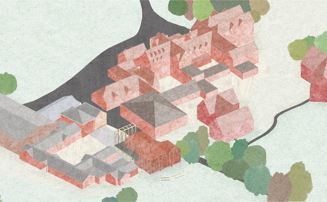David Brownlow Theatre by Jonathan Tuckey Aerial Isometric