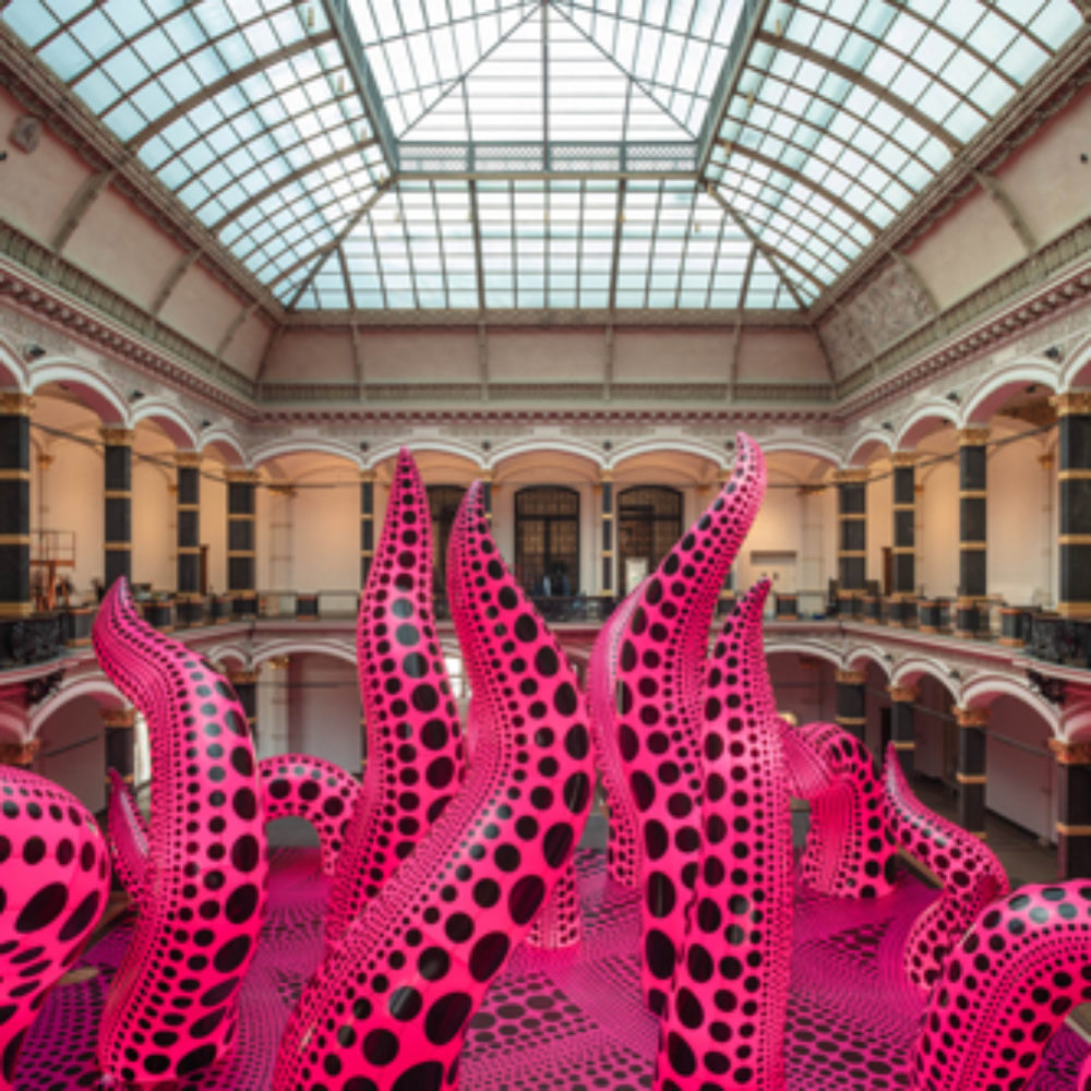 Yayoi Kusama: A Retrospective. A Bouquet of Love I Saw in the Universe